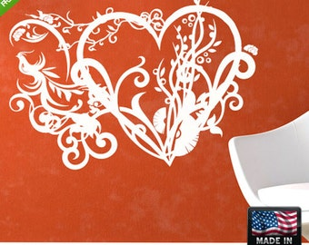 Flowers Wall Decal Flowers Wall Decal Flower Wall Sticker Flower Sticker For Wall floral wall decals (Z117)