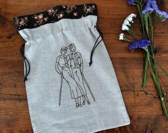 bolsa con bordado vintage