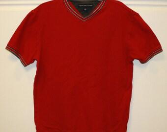 Vintage Tommy Hilifiger V-Neck Shirt Large