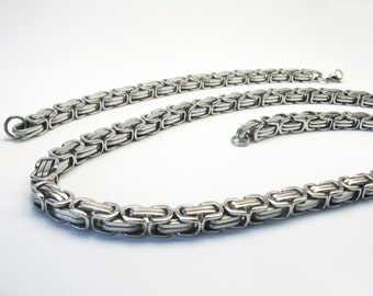 Set King chain bracelet stainless steel 60 cm necklace stainless steel chain