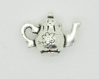 Silver Tea Pot Charm, Silver Tea Pot Pendant.