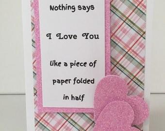 Humorous / sarcastic Valentine's Day card