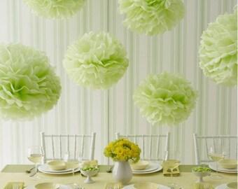 pompones 18, decoración del partido, boda, eventos, babyshower, pompones de papel, fiesta, decoración de papel, florecen pompón