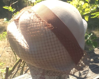 Merrimac Hat, Vintage Hat, Merrimac Hat Corp, Merrimac Excello Hat, Merrimac Hat Size 22, Beige Merrimac Hat