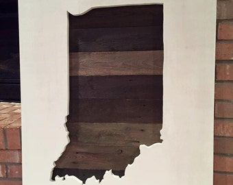 Large Reclaimed Wood Indiana Sign