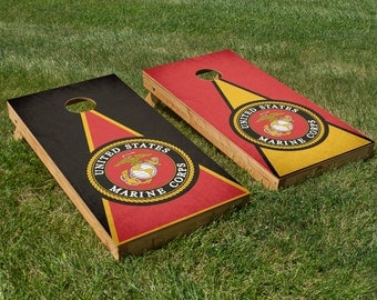Marine Corps Cornhole Board Set with Bean Bags