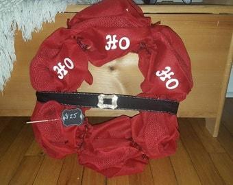 Red mesh wreath