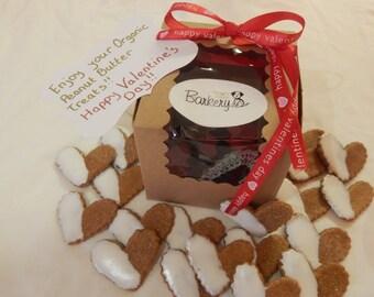 Organic Peanut Butter Valentine Dog Treats