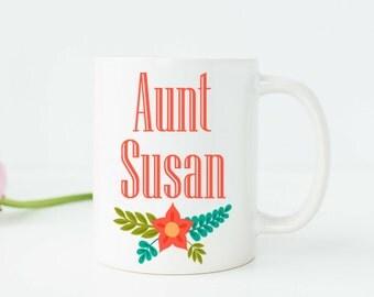 Aunt Mug Personalized Aunt Gifts Aunt Cup Aunt Gift Auntie Gift Auntie Mug Aunt Birthday Gift New Aunt Gift Aunt Wedding Gift Aunt to Be W53