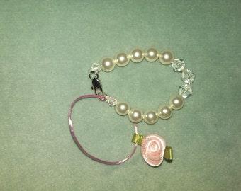Newborn princess pearl bracelet
