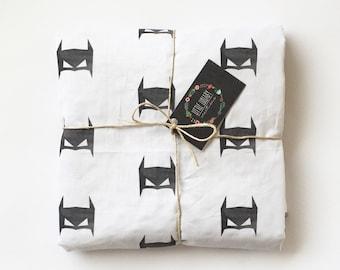 Batman Minky Baby Blanket- Modern Minky Blanket- Gender Neutral, grey, batman, minky, modern