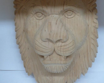 Hand Carved Lion Onlay