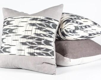 Guatemalen Ikat & Linen Pillow Cover