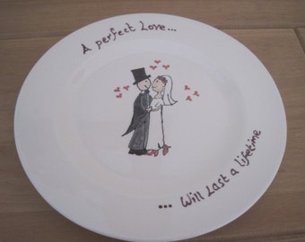 """10"""" Plate for your Wedding or Anniversary"""
