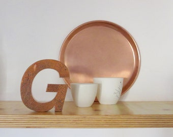 """Vintage Metal Letter """"G"""" from a Spanish store sign, Industrial design decor"""