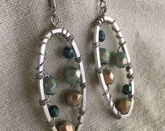 A Mermaid's Tail Dangle Earrings