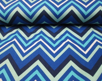 100% cotton blue herringbone pattern