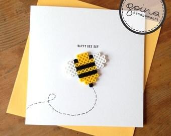 happy bee day birthday card