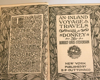 1922 2nd Edition, An Inland Voyage & Travels With A Donkey By Robert Louis Stevenson