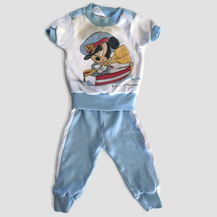 baby boy clothing blue baby clothes vintage disney