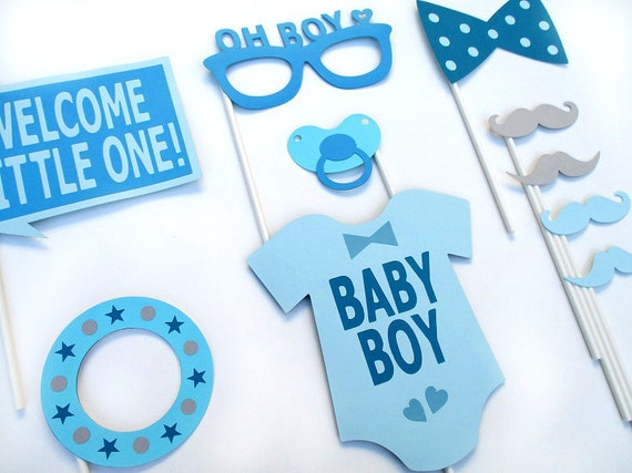 boy baby shower photo booth props photobooth props boy baby shower
