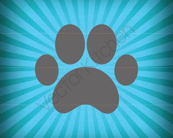 Paw Print Cutting Template SVG EPS Silhouette DIY Cricut Vector Instant Download, Pet Print, Dog Print, Cat Print, Bear Print