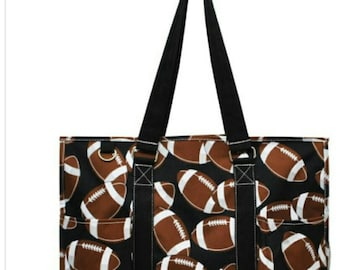Football tote, football mom, personalize it, football mom bag, organizer tote bag, football, tote bag, personalized tote bag