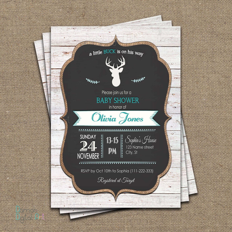 deer baby shower invitation baby deer invitation little buck