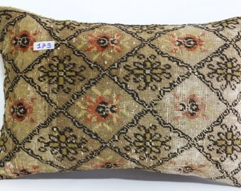 16x24lumbar pillow rug cushion cover throw pillow home decor pillows bohomien pillows turkish kilim pillow cover SP4060-179
