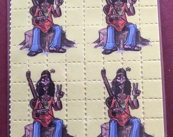 Blotter Art Fridge Magnet Hippie, Been Dead Awhile