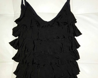Diesel Beautiful Black Ruffle Top