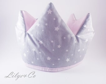 Princess pink and grey Crown star * on other colour order *.