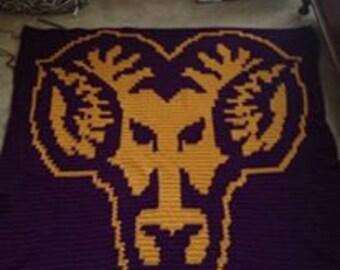 West Chester University (WCU) Rams Blanket