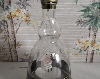 1950s Kitsch Musical Glass Decanter with Clockwork Dancing Couple