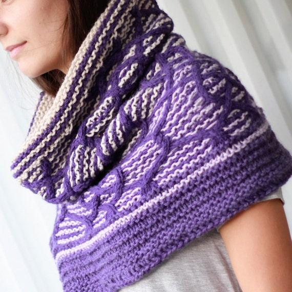 Knitting pattern, Patron tricot PDF – Cadence Cowl Shawl ...