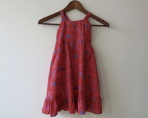 VINTAGE LIBERTY DRESS - Handmade little girl dress in Liberty fabric from the 70's