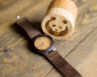 Comfort + Style: Bamboo Watch Carbonized (Small Face) - FREE SHIPPING