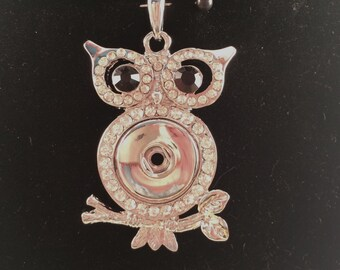 Owl Snap Charm Pendant