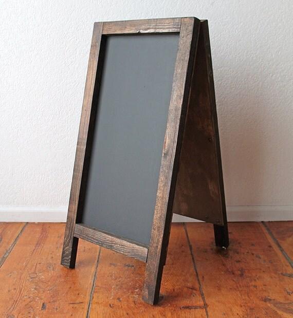 handmade large sandwich board a frame chalkboard with dark. Black Bedroom Furniture Sets. Home Design Ideas