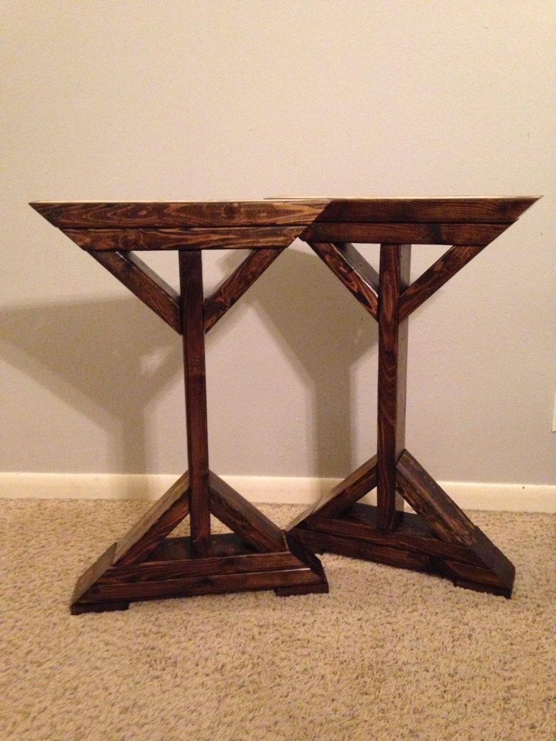 Farmhouse x frame table legs wood table legs by for Farmhouse table plans with x legs
