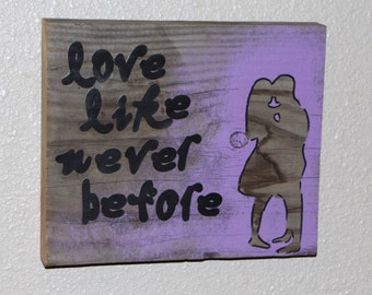 Love Like Never Before Silhouette Wooden Wall Art Home Decor