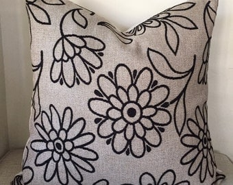 Handwoven Japan Textile Flower Pillow 22x22