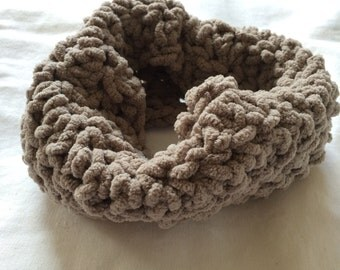 Taupe Chenille Toddler Cowl Scarf