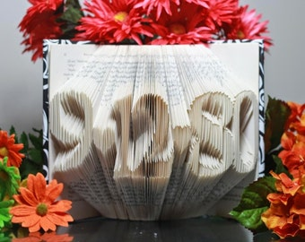 Folded book art-memorable gift-Folded Book Art dates-Third Anniversary-Unique Gift-Best Selling Item-Unique Anniversary Gift