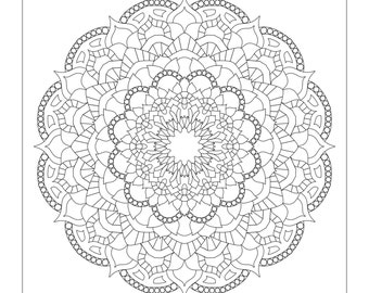 Mandala Meditations Coloring Pages
