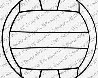 Svg - Volleyball SVG Vector Graphic 2 for Instant Download DXF    Format for Silhouette and Cricut Cut Files