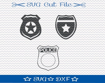 Badge SVG Cut File / Cut File for Silhouette / Police Badge SVG / Police Officer Badge svg / Fireman Badge svgg