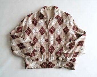 50's argyle jacket - price lowered!
