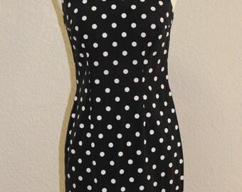 1960s small vintage dress mini polka dot