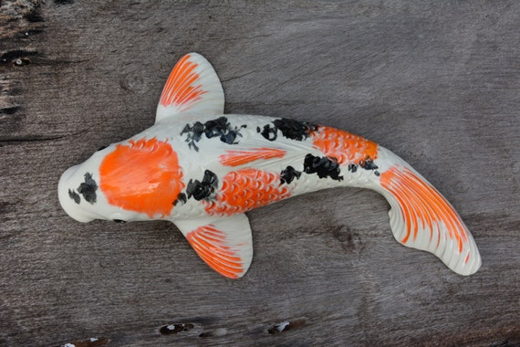 Symbol of creativity koi sculpture kikokuryu koi by koimaui for Orange coy fish